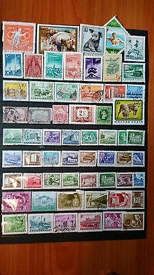 Hungary stamps used Beautiful stamps lot of 60  4 photos 5