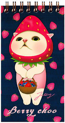 Jetoy Choo Choo Cat Spiral Notebook: Berry Choo