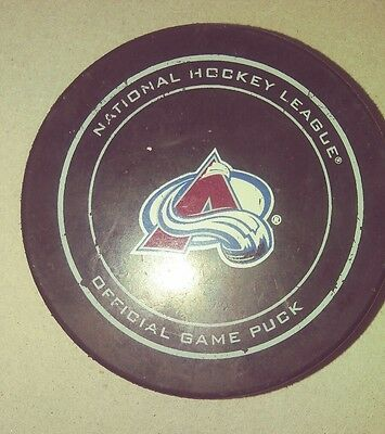 Colorado Avalanche National Hockey League Official Game Puck sher-wood
