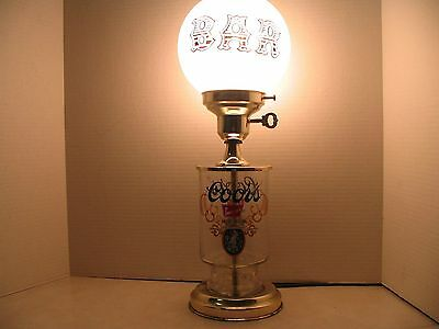 Vintage Coors Beer Bar Lamp Good condition Fully functional man cave collector