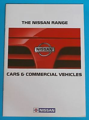 1992 Nissan Range Brochure - Cars And Commercial Vehicles