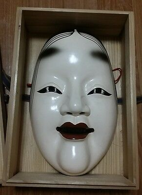 Vintage Japanese NOH MASK by GAKUSEN with Box