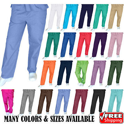 Unisex Men/Women Natural Uniforms Medical Hospital Nursing Scrubs Bottom Pants