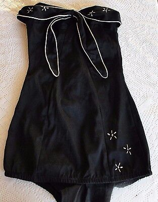 Vintage 40s 50s Cole of California? Strapless Bathing Suit Pin up Hollywood Glam