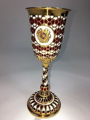 Silver Cups Hand Made.Gold plated, with US, Armenian, CA seal
