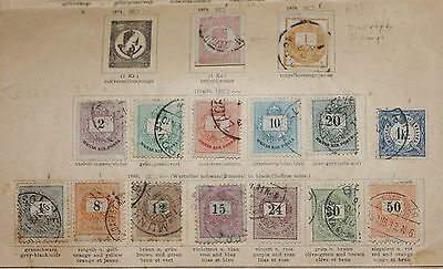 Hungary Newspaper and Postal Stamps from 1872 1874 1876 1888