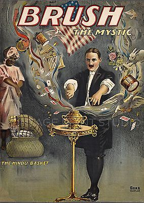 Brush The Mystic 1912 Vintage Magic Poster Giclee Canvas Print 22x30