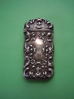 Antique Victorian Sterling Silver Match Case Look!