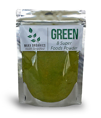 MAXX Organics 8 SUPERFOOD POWDER 30 Day Supply Comp. to Organifi Green Juice Mix