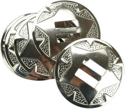 "Conchos Nickel 1.5"" 10/Pkg Star 1320-03"