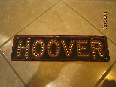 Vintage Hoover Presidental License Plate Campaign Ad Topper