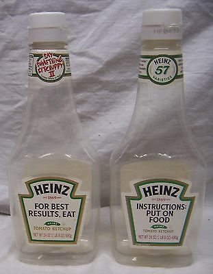 """2 Heinz Ketchup Bottles - """"say Something Ketchuppy"""" -  Funny Labels"""