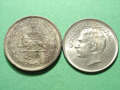 Middle East Persia lot of 2 Large Coins Silver and Error