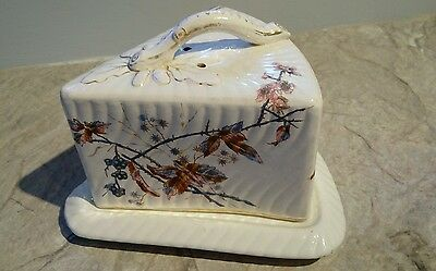Large Antique  Covered Cheese Plate Dish English c1896-1920