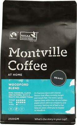 Organic Coffee - Woodford Blend (Beans) 250g - Montville Coffee