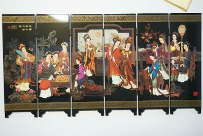 Asian traditional decoration Mini 6 Panel Screen (Galloping Horse) US Seller