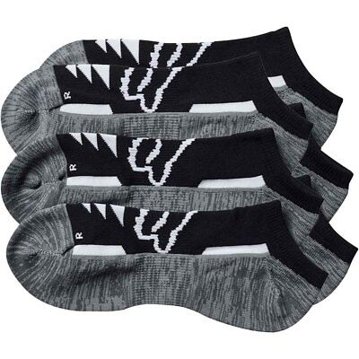 Fox Racing NEW Tech Midi Black Grey Womens Casual Ankle Socks 3pk
