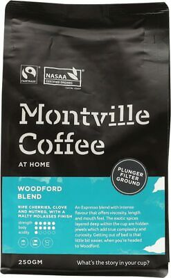 Organic Coffee - Woodford Blend (Plunger) 250g - Montville Coffee