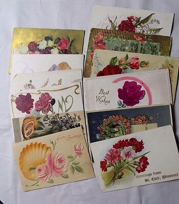 Lot of Antique Greetings Cards