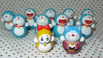 Japan Doraemon Roly Poly toy lot of 11 Retired