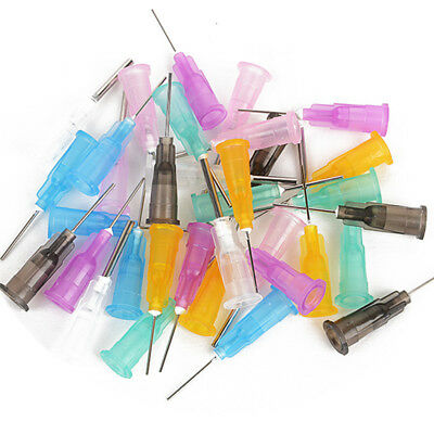 35Pcs/Set Dispensing Needle Tip For Liquid Dispenser Adhesive Glue Syringe New
