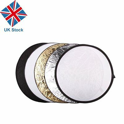 "UK Godox 110cm 43"" 5 in 1 Collapsible Lighting Diffuser Round Reflector Disc"