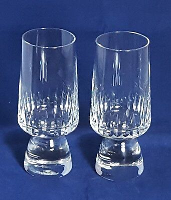 Beautiful Pair of High Quality Heavy Crystal Wine Glasses.