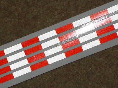 TAMIYA 1/14 AMERICAN style 56302 TRAILER REFLECTIVE Red-White tape strips HI-VIS