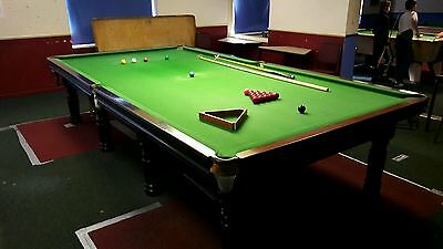 Full size 12 x 6ft Snooker table - With balls, rests & triangle