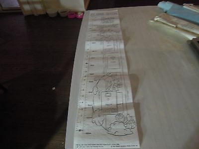 "ULTRA RARE Hanna-Barbera HONG KONG PHOOEY 35"" GROWTH CHART Vintage 1976 Cartoon"