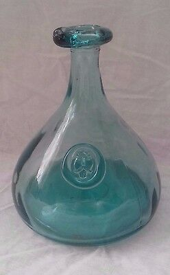 Large HOLMEGAARD - 1960's 'Viking Face' WINE CARAFE / Decanter by OLE WINTHER