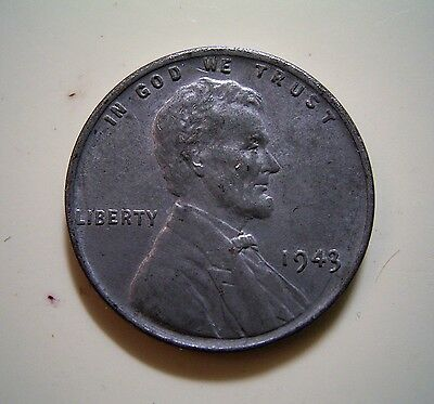 USA 1943 Zinc/Steel 1 Cent Coin...Great Example,Good Detail, VG Condition