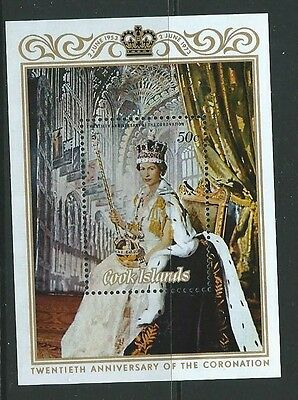 Cook Islands Sgms430 1973 Coronation  Mnh