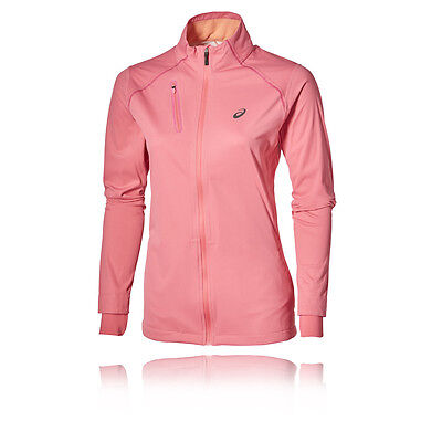 Asics Accelerate Mujer Rosa Impermeable Resiste Viento Running Deporte Chaqueta