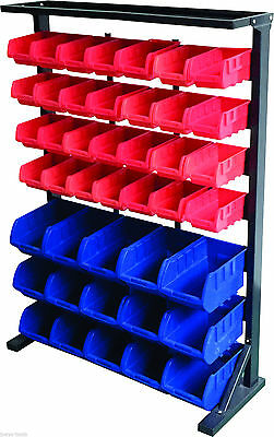 43 Bin Storage Rack system with parts tray shelf garage shed workshop office NEW