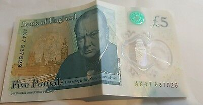 AK47 Bank Of England Polymer £5 Five Pound Note Genuine 100% New