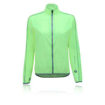 Higher State Mujer Verde Mangas Largas Completa Running Deporte Chaqueta Top