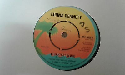 "Lorna Bennett, Breakfast In Bed , 7 "" Island Record Label."