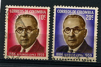 Colombia 2 used  stamps 1961