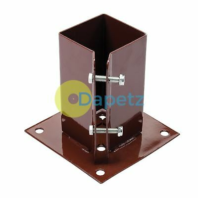 Bolt Down Post Shoe 75 X 75mm Corrosion Resist Bolting Posts On Hard Surfaces