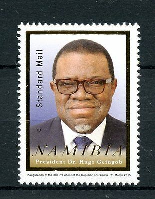 Namibia 2015 MNH 3rd President Inauguration HE Dr Hage Geingob 1v Set Stamps