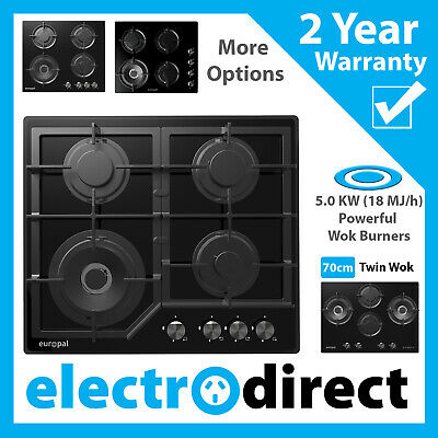 Brand New Brilcon 60cm GAS Stainless Steel Cooktop Stove Cook Top 4 Burner Hduty