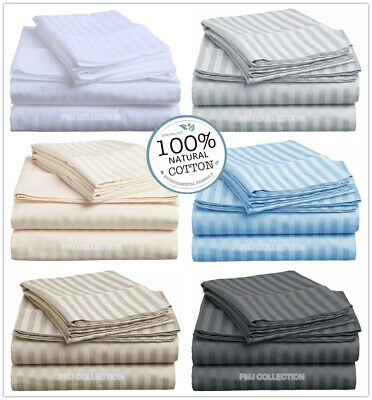 1000TC 100%Egyptian Cotton Fitted Flat Sheet Set or quilt/Doona/Duvet Cover Set