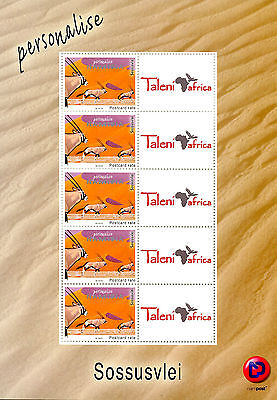Namibia 2016 MNH Sossusvlei Personalised Stamps 5v M/S Antelopes Wild Animals