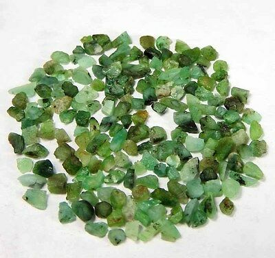 34.55 Cts100% NATURAL BRAZIL GREEN EMERALD GEMSTONE LOOSE ROUGH SPECIMENS LOT