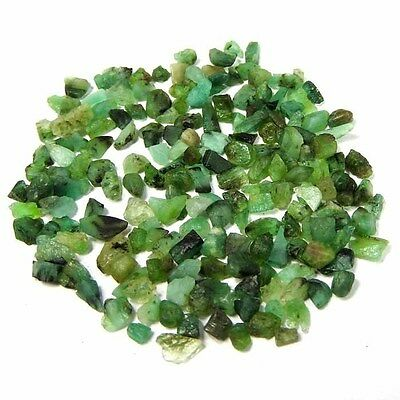 34.50 Cts100% NATURAL BRAZIL GREEN EMERALD GEMSTONE LOOSE ROUGH SPECIMENS LOT