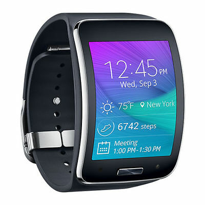 Samsung Galaxy Gear S SM-R750A Charcoal Black Smartwatch for AT&T Excellent