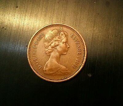 1971 1p one pence coin