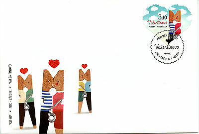 Croatia 2017 FDC Saint St Valentine's Day 1v Set Cover Heart Shaped Stamps