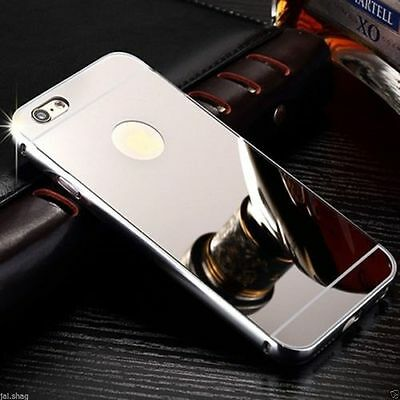 Silver Aluminum Mirror Metal Hard Protective Back Case For Iphone 7 plus{[if281